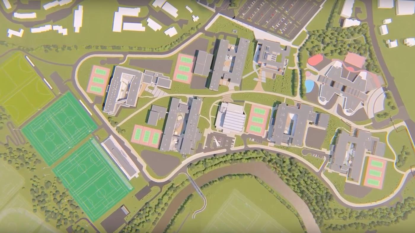 Aerial view of Strule Campus