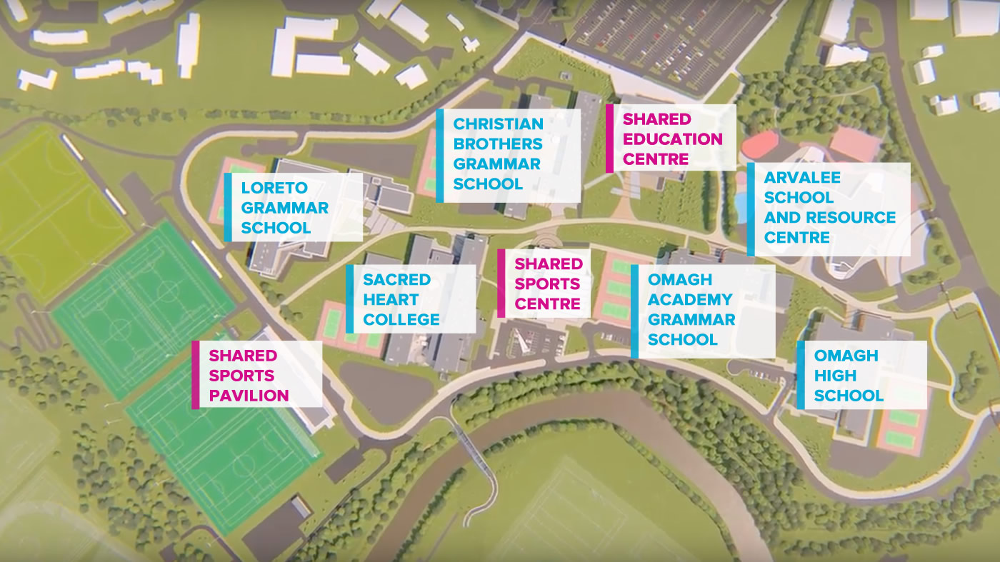 Image map of Strule Campus