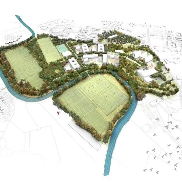 Artist's impression - Front View of Campus