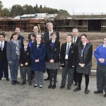 Ministers and pupils from Arvalee School and Resource Centre at their new school site (Picture: Michael Cooper)