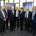 First Minister Arlene Foster, deputy First Minister Martin McGuinness and Education Minister Peter Weir pictured with John Hall, Chair of Board of Governors, Gavin Boyd, CEO of the Education Authority, Jonathan Gray, School Principal and John Smith, Deputy Secretary, Department of Education, at the opening of the Arvalee School & Resource Centre in Strule Shared Education Campus, Omagh.