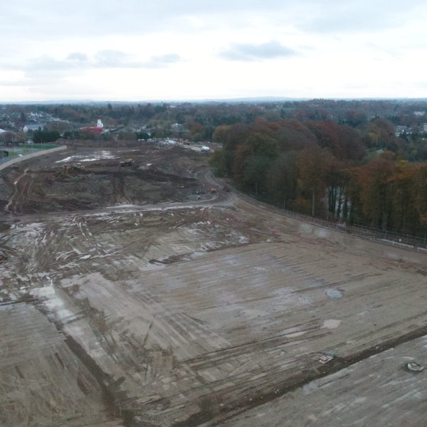 Drone Footage of Site Preparation
