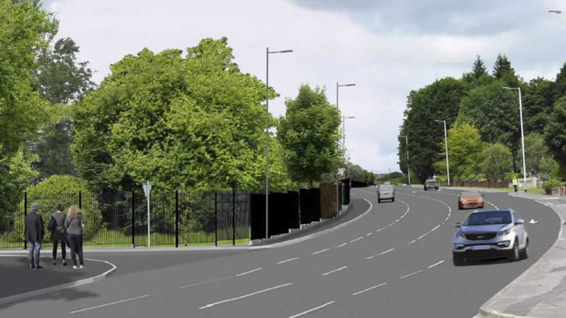 Gortin Road Entrance   10 to 15 Years After Construction